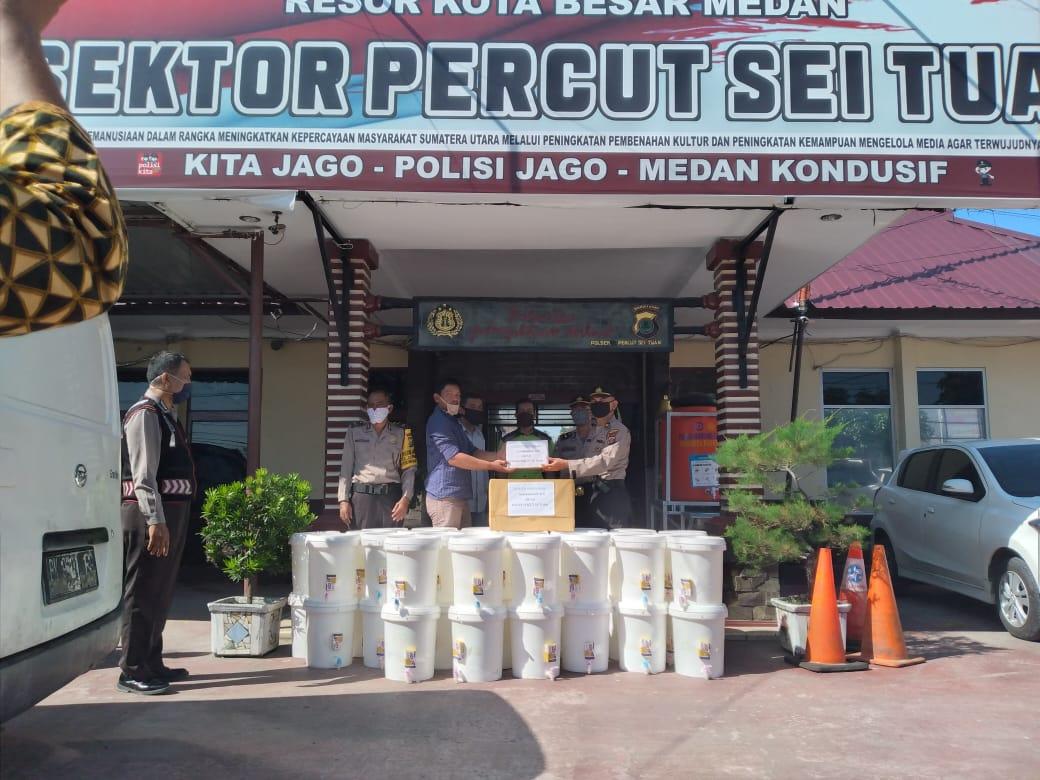 Pemberian APD kepada Polsek Percut Sei Tuan - Medan.